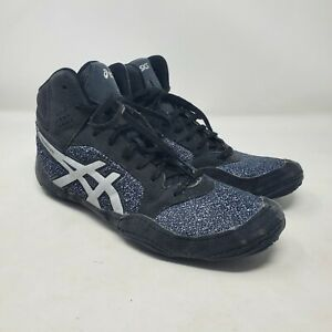 ASICS Snapdown Mens Sz 9.5 Black Gray Wrestling Boxing Shoes Sneakers
