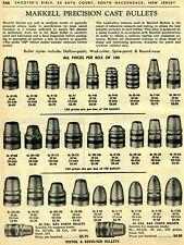 1963 Print Ad of Markell Precision Pistol & Revolver Cast Bullets 00004000