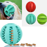 FP- Pet Dog Chew Training Rubber Ball Tooth Cleaning Toy Treats Dispenser My