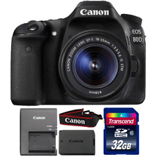 Canon EOS 80D 24.2MP DSLR Camera with 18-55mm IS STM Lens and 32GB Memory Card