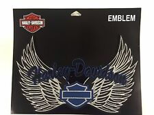 Genuine Harley Davidson Blue, Silver & Black Harley Wings Emblem Patch EM074896