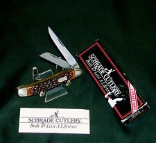 """Schrade 893 Lumberjack Knife """"SFO"""" 3-1/2"""" Closed 1990 W/Packaging & Papers Rare"""
