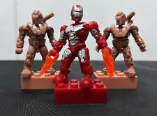 2011 Iron Man Mark V Mega Bloks Ground Assault Hammer Drone Marvel Minifigures