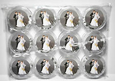 12 PC ROSARY WEDDING KEEPSAKE FAVORS RECUERDOS DE BODA ROSARIO COUPLE WHITE BEAD
