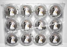 12 PC ROSARY WEDDING KEEPSAKE FAVORS RECUERDOS DE BODA ROSARIO COUPLE WHITE BEAD