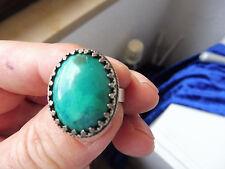 Sehr schöner, alter Ring__925 Silber__mit grünem Stein _!