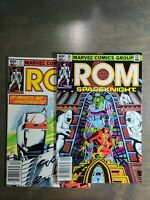 Rom vol-1 ~ 2 book lot #37,38 VF-NM Marvel Comics ~ Bronze Age (1982/1983)
