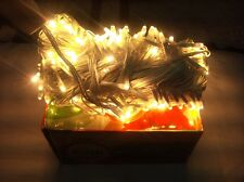 80 FOOT CLEAR STILL LED RICE LIGHT FOR DIWALI,CHRISTMAS-WARM WHITE 25M