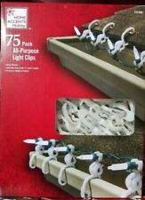 75 Pack All Purpose Light Clips, Universal Shingle Gutter Christmas lights clips