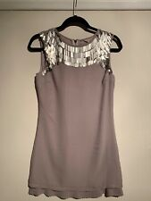 Ladies, Girls Ted Baker Dress Size 1. Grey/taupe. Party, Wedding, Evening