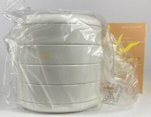 InterDesign Round Swivel Plastic Organizer WHITE New Old Stock Original Box