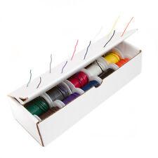 """22 AWG Gauge Stranded Hook Up Wire Kit 25 ft Ea 0.0253"""" 10 Color UL1015 600 Volt"""