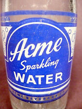 vintage ACL Soda POP  Bottle - ACME SPARKLING WATER of WILKES-BARRE, PA - 7 oz