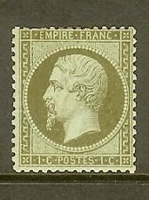 "FRANCE STAMP TIMBRE N° 19 "" NAPOLEON 1c OLIVE 1862 "" NEUF x TB"