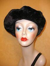 Avant Garde Black Furry Russian Czar's Hat by Lilly Dache' for Dachettes