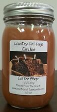 16 oz Hand Poured Soy Candle Coffee Shop.FREE SHIPPING