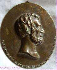 MED1537 - PLAQUE BRONZE ABRAHAM LINCOLN REPUBLICAN CLUB NEW YORK 1910