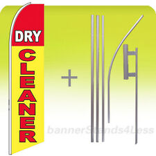 Dry Cleaner Swooper Flag Kit Feather Flutter Banner Sign 15' Tall - yb