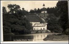 1934 Stempel MARIENTHAL (Sachsen) auf AK Postkarte Neißtal Kloster Gebäude