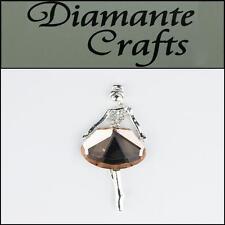 3D Lady Champagne Silver Alloy  Clear Diamantes DIY Phone Case Deco 3BLG2013