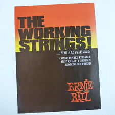 retro magazine advert 1984 ERNIE BALL , THE WORKING STRINGS
