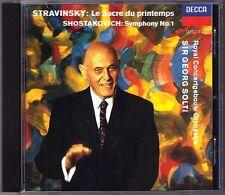 Solti: Stravinsky le sacra du printemps Shostakovich Symphony No. 1 CD Sir Georg