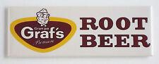 Graf Root Beer FRIDGE MAGNET (1.5 x 4.5 inches) soda sign push bottle label
