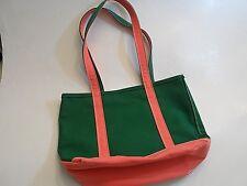 LL Bean Boat & Tote Parker bag Medium Green and Pink