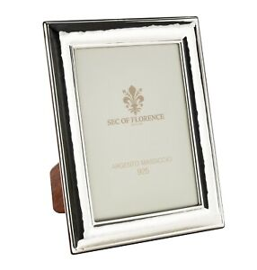 """6""""x8""""in Hallmarked Solid 925 Sterling Silver Photo Frame 7200/15x20 wood back UK"""
