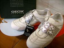 Scarpe shoes bambina tennis GEOX NR. 36 bianco argento NUOVE!