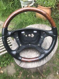 Mercedes Wood Steering Wheel E W211 SL R230 CLK W209 CLS W219 G Class W463 Burl