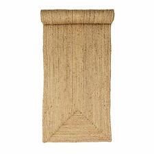 Rustic 100% Jute Beige hallway reversible 60x230cm natural fibres border runner