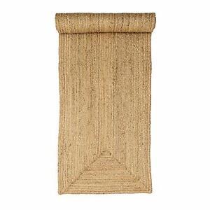Rustic 100% Jute Beige hallway reversible 60x230cm natural fibres plain runner