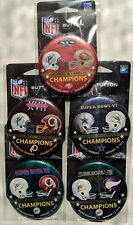 Miami Dolphins Super Bowl Contestants Buttons Set Lot of 5 SB 6 7 8 17 19
