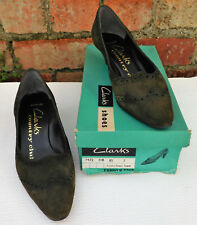 Vintage Clarks green suede shoes size 7 Country Club UNWORN 1950s 1960s ladies