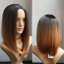 2017 Fashion Short Straight Lolita Black/Brown Synthetic Hair Women's Full Wigs
