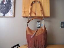 Lola Crossbody Bag or Handbag With Suede Fringe Designed in Paris NEW