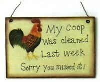 COOP CLEANED LAST WK SORRY U MISSED IT rooster farmhouse kitchen wall decor sign