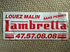 French LAMBRETTA Dealer Sticker SX200 TV175 GP200 LI150 TV200 SCOOTER MODS