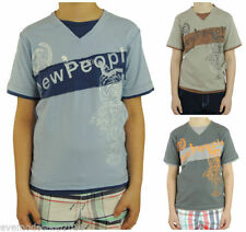 Kurzarm Jungen-T-Shirts & -Polos mit V-Ausschnitt und Motiv