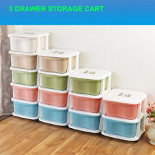 5 Drawer Storage Organizer Plastic Cabinet Cart with Caster Wheels
