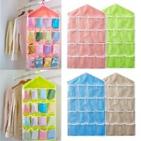16 Pockets Clear Over Door Hanging Bag Shoe Rack Hanger Storage Organizer /L2