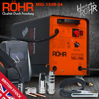 MIG Welder Inverter 240V / 150 amp / DC Gas Flux Wire Welding Machine - ROHR 04