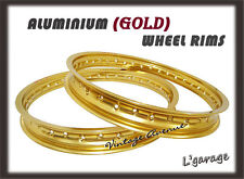 [LG3849] HONDA XL600R 1983-1987 ALUMINIUM (GOLD) FRONT + REAR WHEEL RIM
