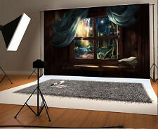 Vinyl illusory Backdrops 7x5ft Chalet night Photography Background  forest NEW
