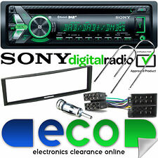 Renault clio 2005-12 sony dab bluetooth cd MP3 usb voiture stéréo & noir fascia kit
