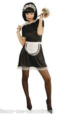 Ladies Sexy French Maid Housekeeper Rocky Horror Fancy Dress Costume UK 14-16-18