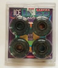 Labeda Ice Lites Roller Blade Inline Wheels 72mm - 82A Clear / Black