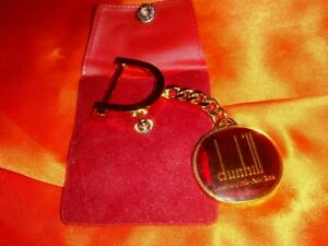 Dunhill, Red Enamel Gold-Plated Metal Key Chain, Scarce