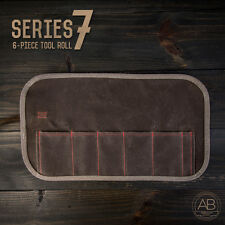 American Bonsai Waxed Canvas Tool Roll: 6 Slots for Series 7 Tools